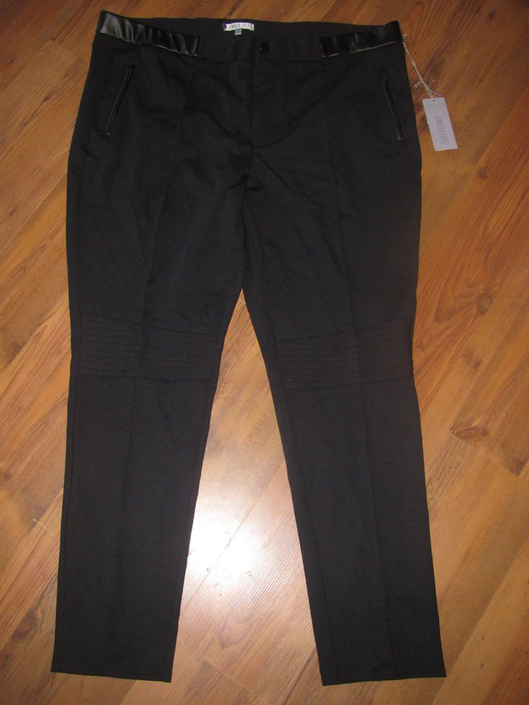 New Womens Sz 2X Jennifer Lopez Woman Black Tie Pants Retails $64