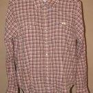 Womens Sz M Wrangler Western Shirt Cowgirl Top Pearl Snaps Blouse Plaid EUC