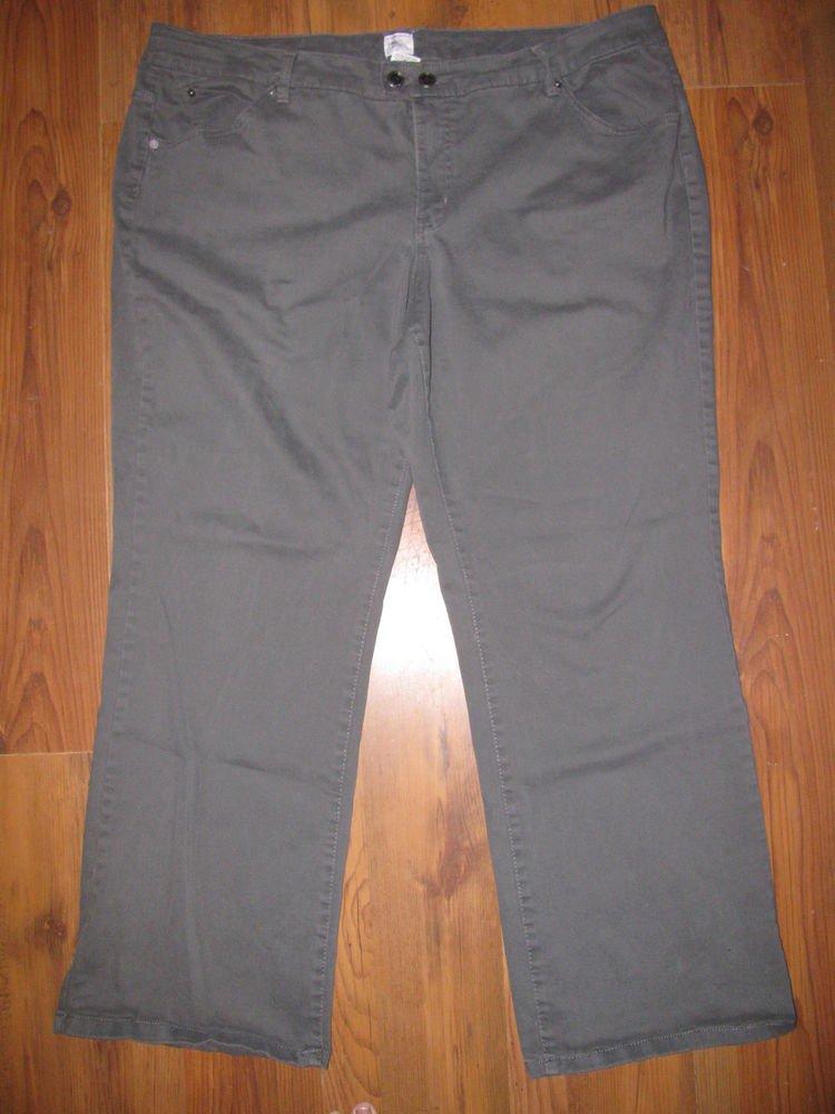 Womens Sz 26 JMS Just My Size Olive Jeans EUC