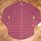 New Boys Sz L (12) Standard Blues L/S Button Front Plaid Shirt