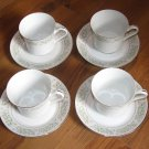 Lot of 4 Sets Taihei Springtime Cups and Saucers