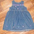 New Girls Sz 3T Specialty Kids Sleeveless Blue Jean Dress w/Ribblon Flowers