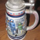 1984 Avon Baseball Stein W/Lid Numbered Handcrafted in Brazil
