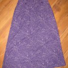New Womens Sz 12 Real Comfort by Chadwick's Long Purple Skirt Retail $50