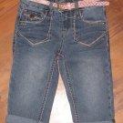 New Girls Sz 5 Mudd Roll Cuff Adjustable Waist Capri Jeans Retails $34