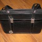 Gently Used Womens Black Brighton Shoulder Purse Handbag