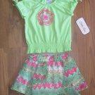 New Girls Sz 2T Little Lass Short Sleeve Top Skort Outfit Set