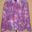Womens One Size Silverstream 100% Silk Button Front Jacket EUC