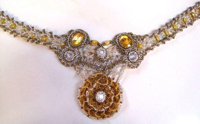 handmade beadwork necklace