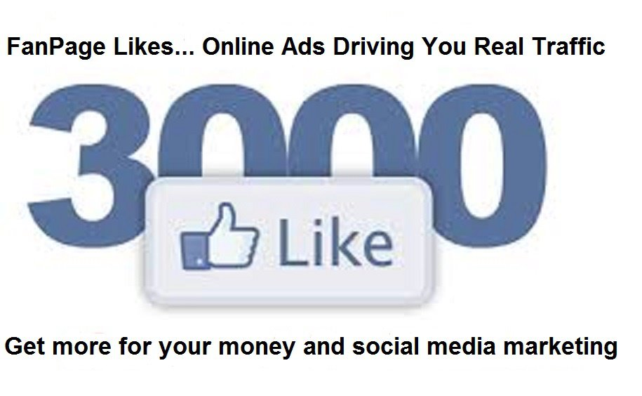 Real Facebook Fan Page Likes 1200+ For $4.95
