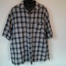 Calvin Klein Jeans CK XL Mens Plaid Pocket X Large Shirt Flax Size Short Sleeve