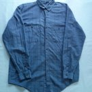 Patagonia Blue Purple Shirt Mens M Medium Plaid 2 Pocket Long Sleeve Size Button