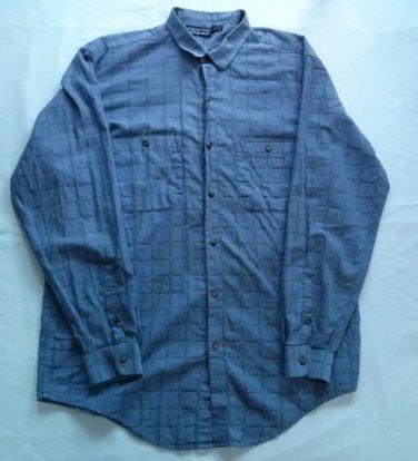 Patagonia Blue Purple Shirt Mens M Medium Plaid 2 Pocket Long Sleeve Size Button
