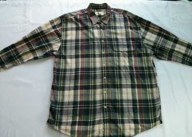 Eddie Bauer XL X L Large Flannel Shirt Camping Mens Lumberjack Long Sleeve Size
