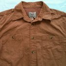 Territory Ahead Orange Long Sleeve Mens Shirt Pocket Large Size Button Front Up