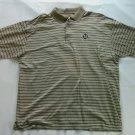 Ben Hogan XL Golf Shirt Stripe Tan Beige Polo Men's Logo Short Sleeve Size X L