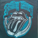 Black Rolling Stones Logo T Shirt Small S Album Cover CD Tour Show Blue Mens