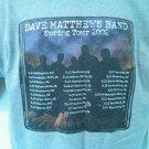 T Shirt Concert Dave Mathews Band Summer Tour 2002 City Town Large L Show Date