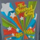 Blue The Second City Est. 1959 T Shirt 100% Cotton Chicago Tour Tee Stars Tour
