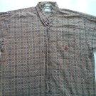 Izod XL Mens Casual Dress Shirt Long Sleeve Paisley X Large Button Club Logo 1X