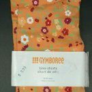 New Girls Gymboree Orange Flowered Bike Shorts Size 6-12 Months NWT Floral 6 12