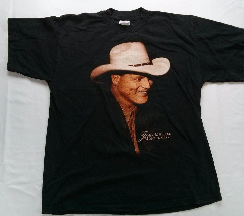 John Michael Montgomery Concert T Shirt Tour 1996 19 90 s What I Do Best XL JMM
