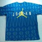 Michael Nike Air Jordan T Shirt 90s 1990s Blue White Yellow XL X Large Vintage