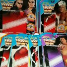 WWF Hasbro Card Lot includes 35 Back Package Wrestling Action Figure Green Red