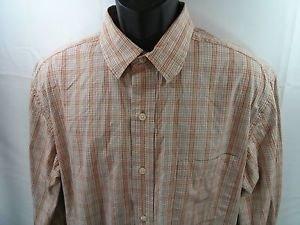 Eddie Bauer Shirt Men's Plaid Large L Classic Fit Button Front Pocket