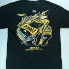 Medium Black M Men's T Shirt NASCAR 17 Matt Kenseth DeWalt Racing Roush Chase