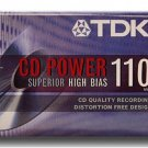 TDK CD Power High Energy Performance Cassette Tape 110/90 Minutes High Bias