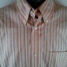 Eddie Bauer Wrinkle Resistant Men's Shirt Large L Stripe Long Sleeve 100% Cotton
