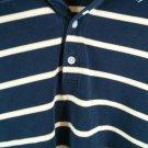 Cutter & Buck Long Sleeve Men's Shirt XL Pima Cotton Blue Yellow White Stripe