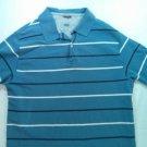 Wrangler Blue Stripe Mens Golf Polo Shirt X Large Blue Dress Casual Short Sleeve