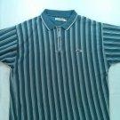 Tom Tailor Polo Golf Mens Shirt XL X Large Blue Casual Short Sleeve Zip Zipper