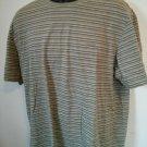 Calvin Klein XL T Shirt Stripe Striped Green 100% Cotton Soft Mens Men Men's Man