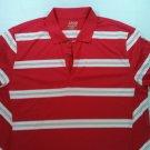 Red White Mens Izod Golf Polo Shirt Performance Performx XL X Large Stripe Short