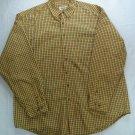 Eddie Bauer Yellow Long Sleeve Camping Men XXL Plaid Lumber Jack 2XL 2X XX Shirt
