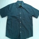 Eddie Bauer Blue Plaid Relaxed Fit Short Shirt Camping Wrinkle Resistant Mens S