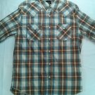 Lot of 3 No Boundries Pearl Snap Mens Shirt Plaid White Medium M Western 38 36