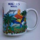 Maleko Mark Hawaii Coffee Mug Ceramic Aloha Surfer Rainbow