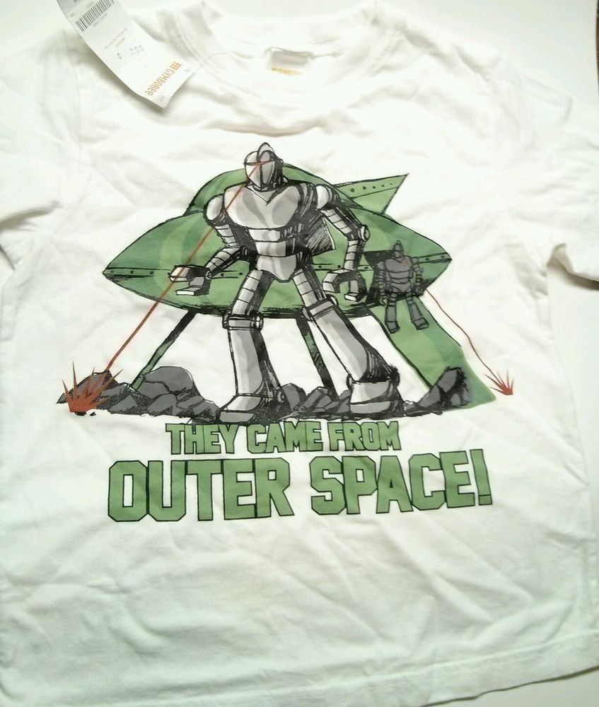 Gymboree Boys SZ 5 They Came From Outer Space Layered Look T-Shirt Long Sleeve