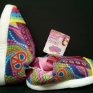 Skechers Twinkle Toes Light Up Slippers Peace Hearts 2-3 Large New Girls Pink L