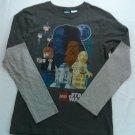 Lego Star Wars Boys XL T Shirt Long Sleeve Han Solo C3PO Chewbacca R2D2 X Large