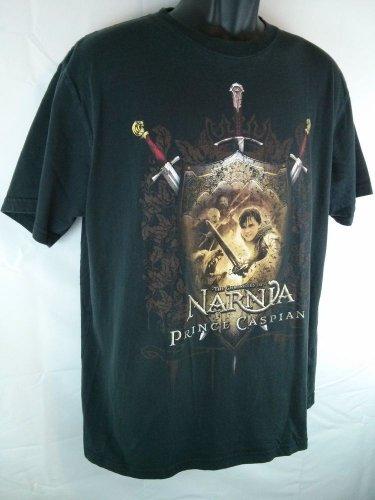 The Chronicles Of Narnia Prince Caspian Large Black T-Shirt Shirt Disney Store
