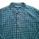 Big Dogs 4X Mens Flannel Shirt Big Tall XXXXL 4 XL Plaid Check 100% Cotton Blue