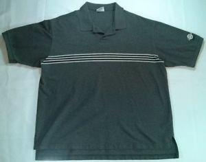 Hard Rock Cafe Chicago Polo X Large Short Sleeve Hardrock Gray Stripe XL Logo