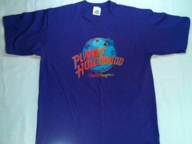 Planet Hollywood Walt Disney World Purple T Shirt Men Size L Mens Vacation Tour