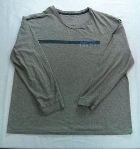 Nautica NC83 Gray Long Sleeve T Shirt XXL 2XL 2X Large Mens Stripe 2 X TShirt