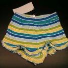 Girls Gymboree Shorts Ruffle 6-12 Months Yellow Blue Green